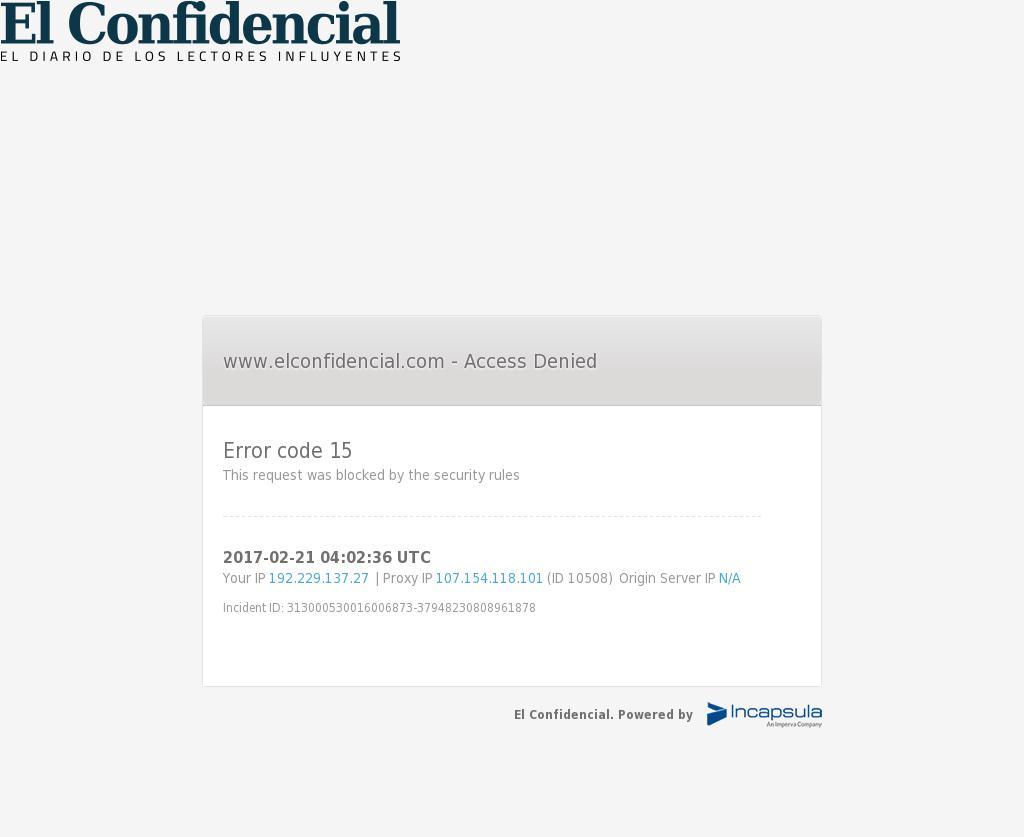 El Confidencial at Tuesday Feb. 21, 2017, 4:02 a.m. UTC