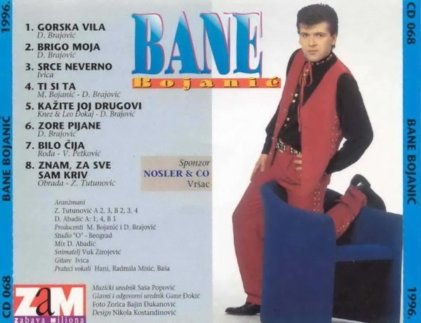 Bane Bojanic 1996 omot-zadnja